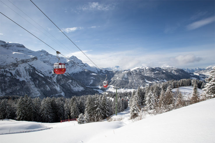 Cable car Villars ski region