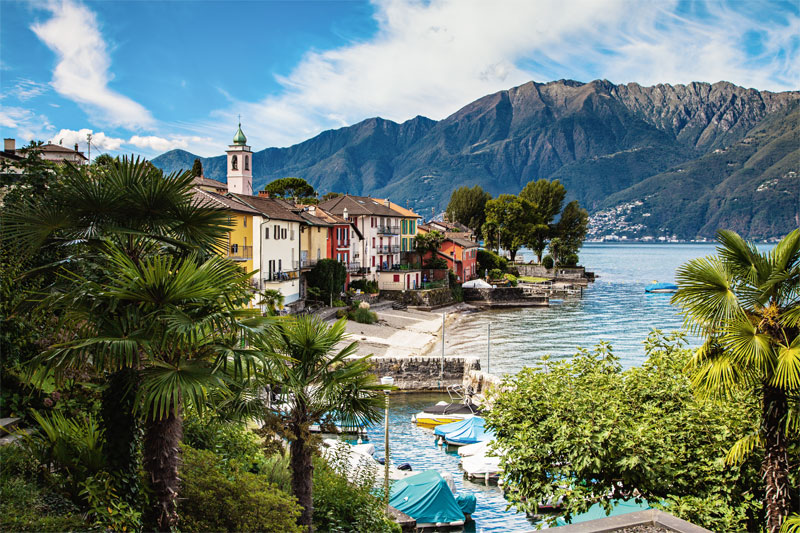 Harbour village on Lake Maggiore