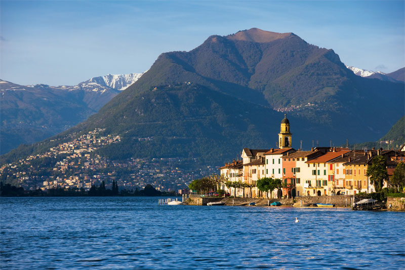 Lakeside village, Lake Lugano