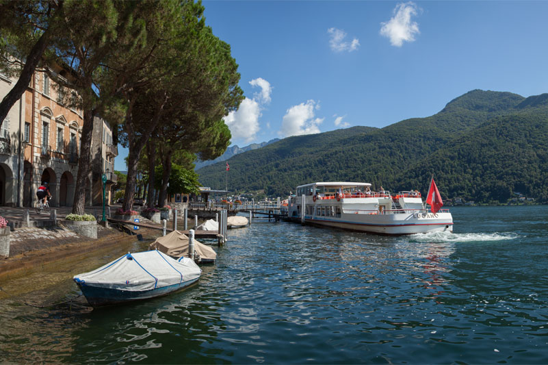 Cruising on Lake Lugano