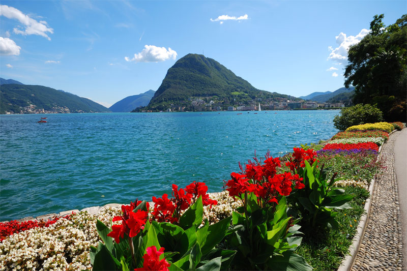 Lugano lakeside