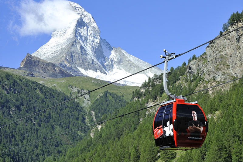 Cable car to the Matterhorn Glacier Paradise