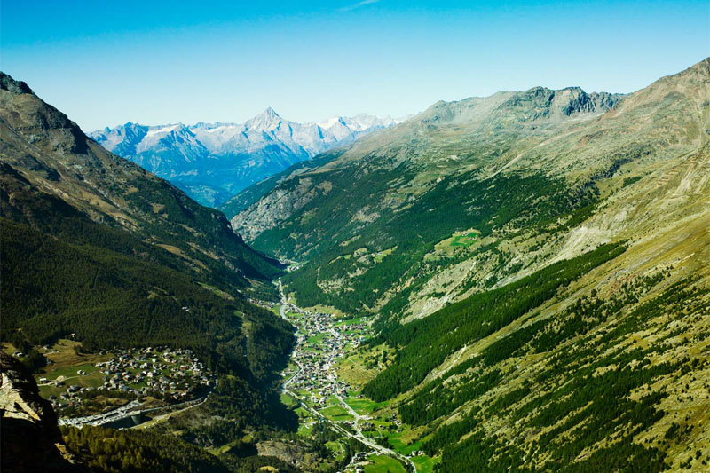 View over the Saas region