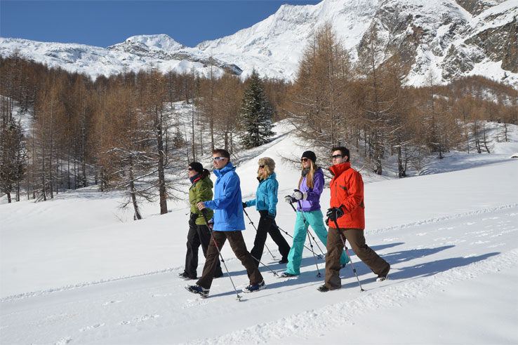 Winter walking, Saas-Fee