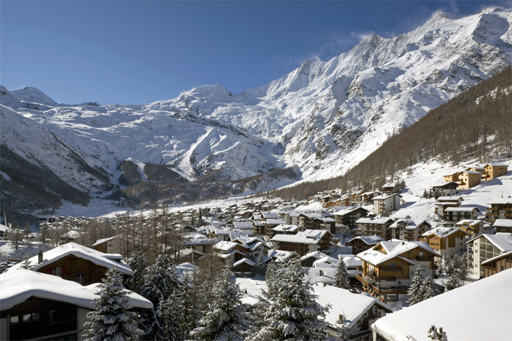 Winter view of Saas-Fee