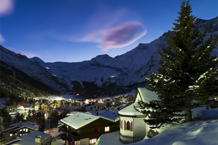 Saas-Fee by night