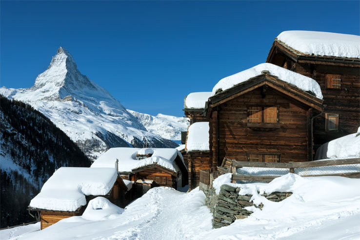 Mountain village near Zermatt