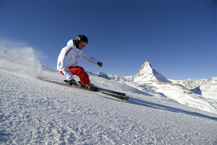 Skiing with a Matterhorn view
