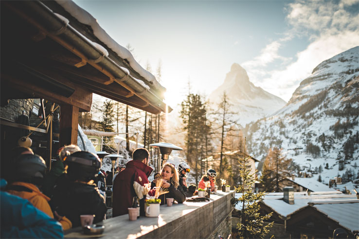 Mountain restaurant above Zermatt