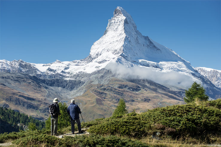 Walking near Zermatt