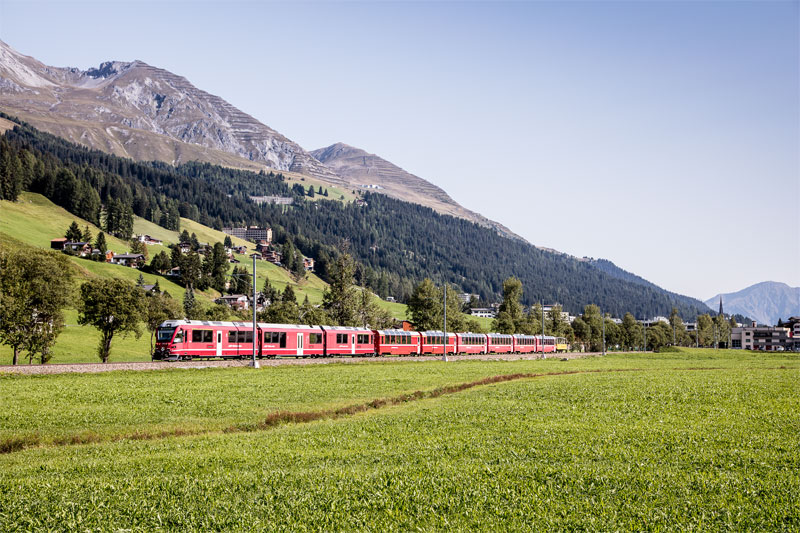 Bernina Express at Davos