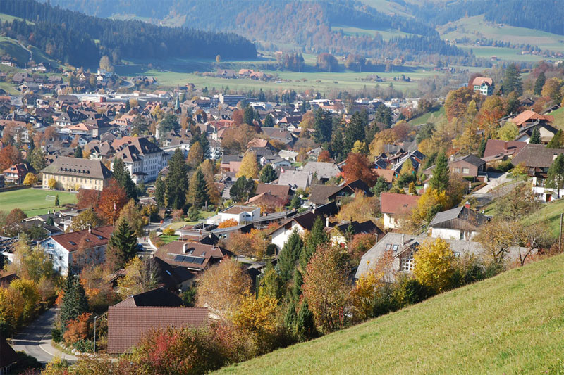 Langnau on the route of the Emmental Regio Express