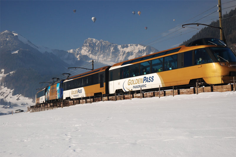 GoldenPass Line in winter