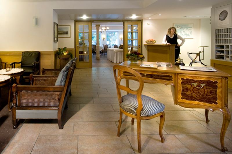 Welcome to the reception area of the hotel