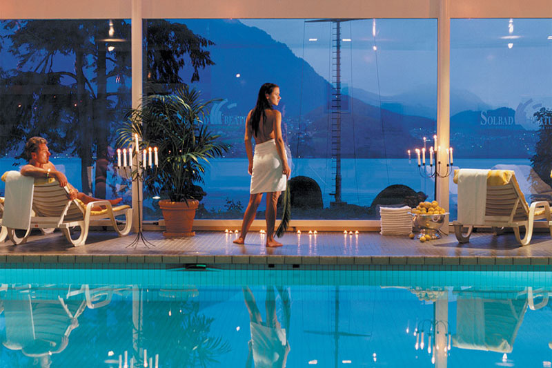 The Beatus has extensive wellness facilities and an indoor pool