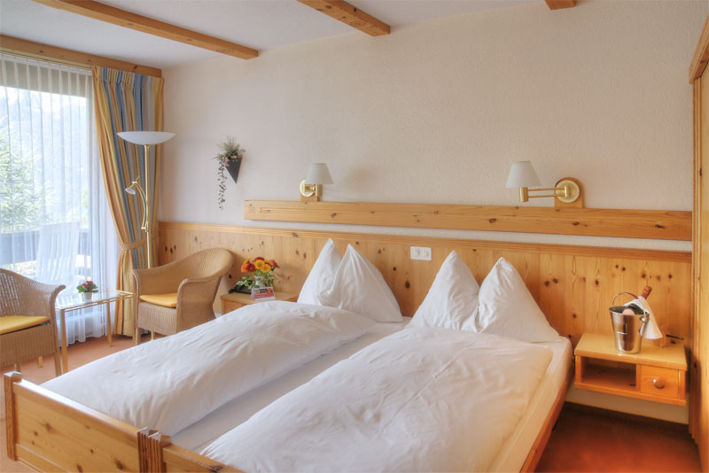 Example of a room at the Sunstar Hotel Wengen