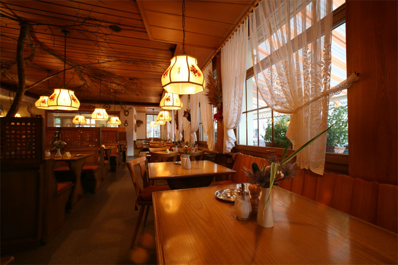 Enjoy a traditional meal in the cosy restaurant