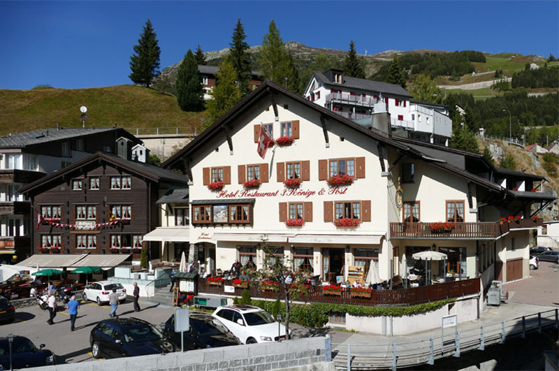 The hotel has a central position in Andermatt