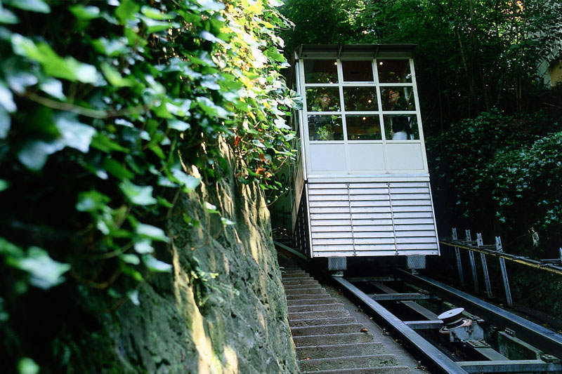 There is a private funicular