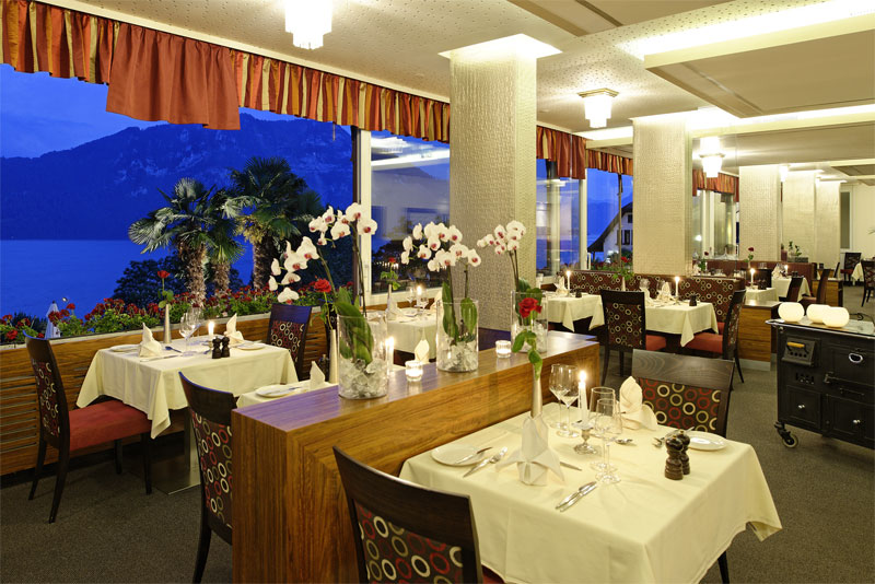 Dining in the Alexander restaurant