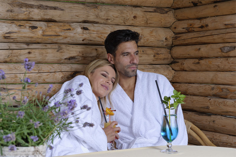 Relax in the spa on your holiday
