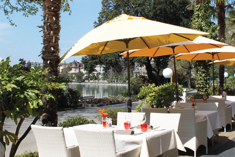 Royal Plaza, Montreux - enjoy a drink on the Terrasse