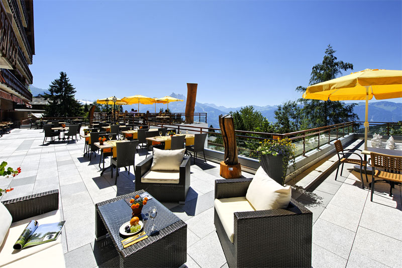 Enjoy the views from the terrace