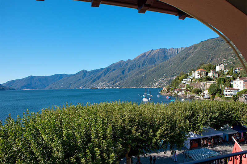 View from the Albergo Carcani, Ascona