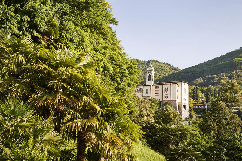 The hotel is perfectly located for visits to the Madonna del Sasso church at Orselina