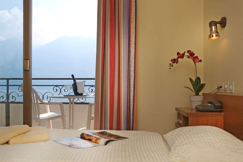 Lake view room at the Hotel Geranio
