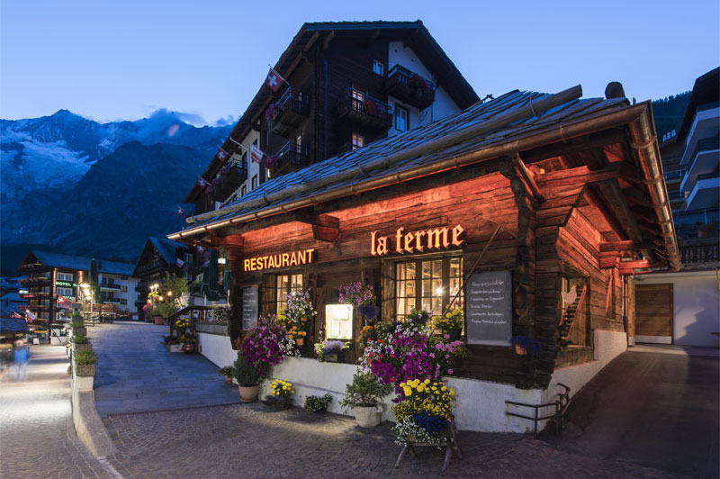 La Ferme restaurant at the Sunstar Hotel Saas-Fee