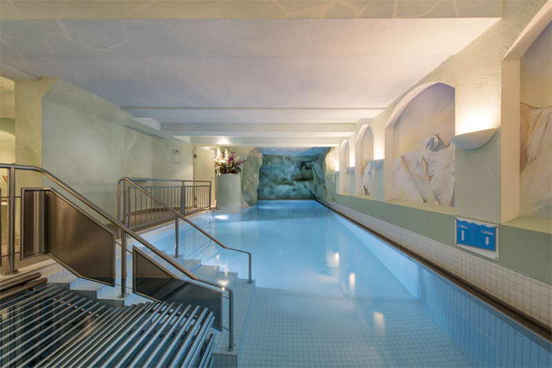 The hotel features a swimming pool